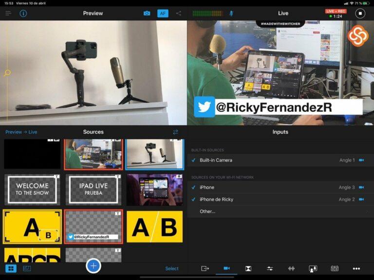 iPad Live Multicámara (prueba de emisión)
