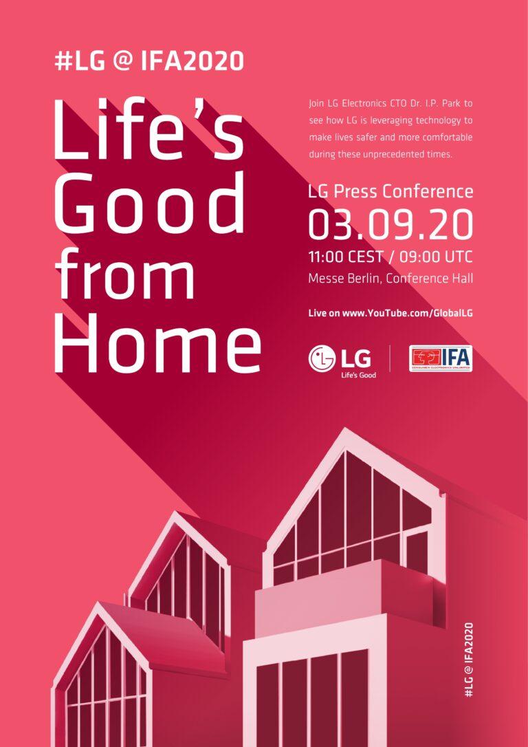LG invita a los usuarios de todo el mundo a IFA 2020 Online